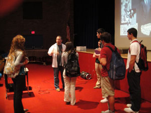 Tim Meets Students After Addiction Presentation